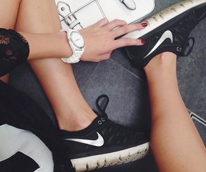 nikes, sport, and style image