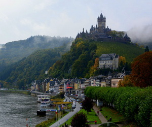 castle, foggy, and germany image