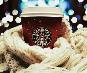starbucks, winter, and coffee image
