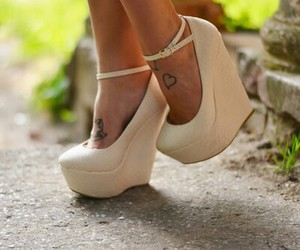 beauty, shoes, and white image