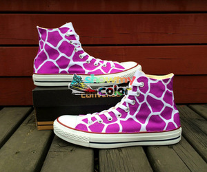 custom converse, high top shoes, and hand painted shoes image