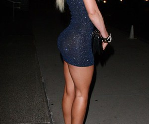 dress, sexy, and blonde image