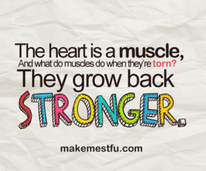 heart, muscle, and Stronger image