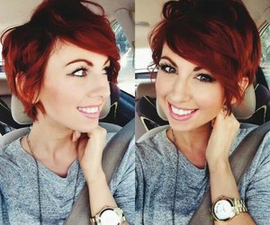 hair, red, and short hair image