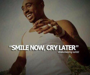 tupac, smile, and quotes image