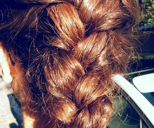 brown hair, perfect, and plait image