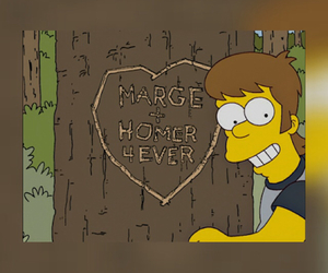 forever, homer simpson, and in love image