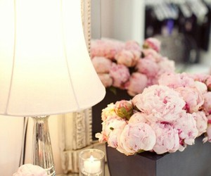 flowers, lamp, and style image