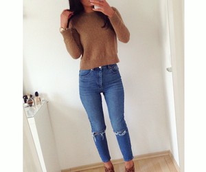 fashion, jeans, and pants image