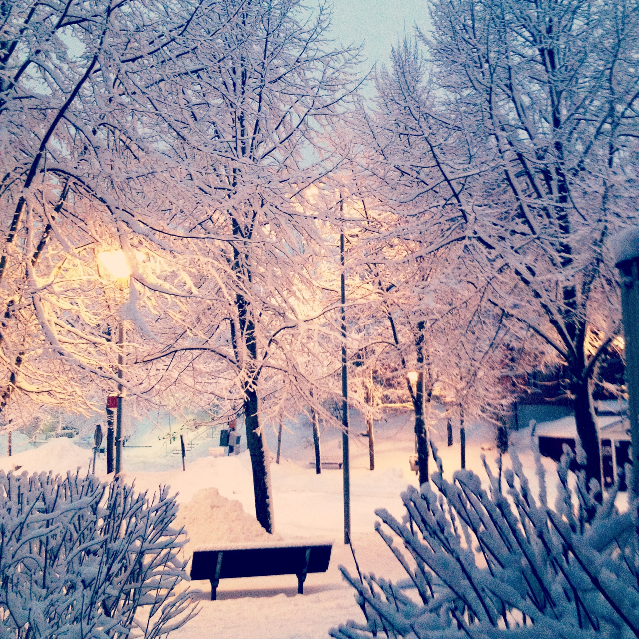 Winter And Snow Via Tumblr On We Heart It