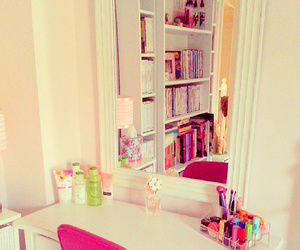 room, pink, and girly image
