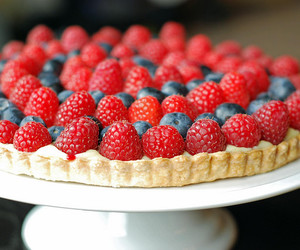 blueberry, food, and raspberry image