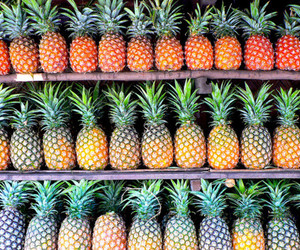 ananas, colorful, and eat image
