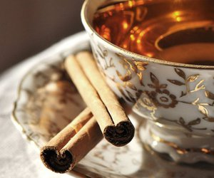 Cinnamon, cup, and tea image