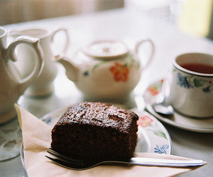 food, tea, and cake image