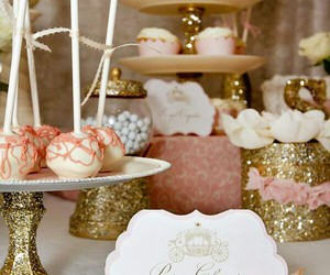 cake pops, cupcakes, and glitter image