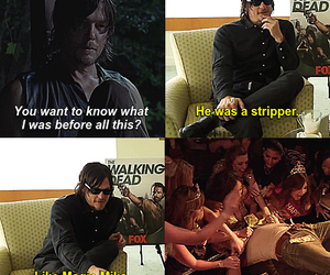 funny, twd, and norman reedus image