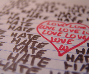 hate and love image
