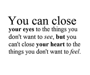 quote, heart, and close image