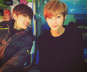 jinyoung, b1a4, and sandeul image