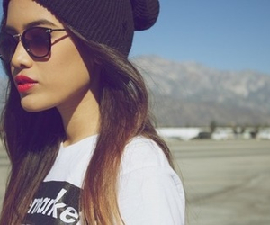 girl, hair, and sunglasses image