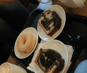 cake, donut, and love image