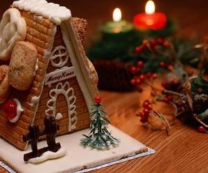 christmas, cake, and gingerbread image