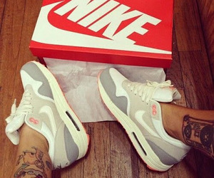 nike, shoes, and tattoo image