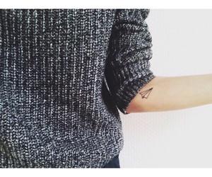 fashion, sweater, and tattoo image