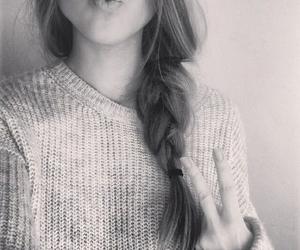 girl, braid, and hair image