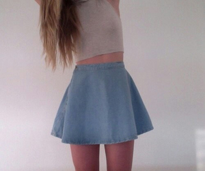 skirt, pale, and outfit image