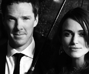 black and white, keira knightley, and benedict cumberbatch image