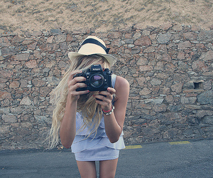blonde, corse, and camera image