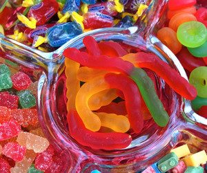 candy, food, and gummy image