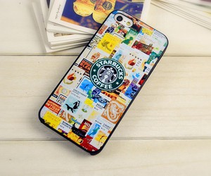 case, iphone, and starbucks image