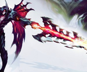 league of legends and aatrox image
