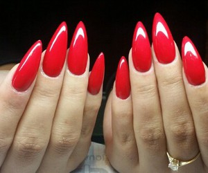 fabulous, nails, and red image