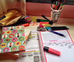colors, school, and study image