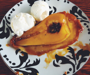 delicious, dessert, and pear image