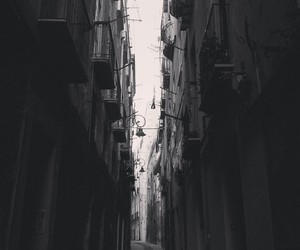 black and white, city, and little image