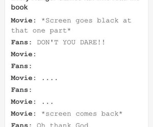 book, fans, and movie image