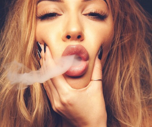 girl, smoke, and nails image