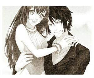 black & white, manga, and amour sucré image