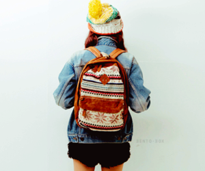 asian, cute, and backpack image