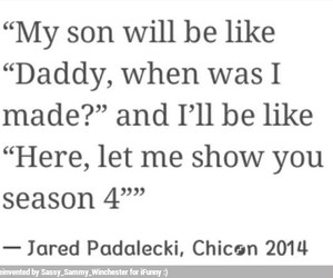 fandom, season 4, and jared padalecki image