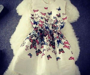 dress, fashion, and butterfly image