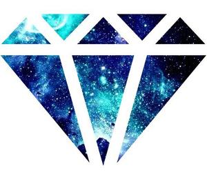 diamonds, galaxy, and wallpaper image