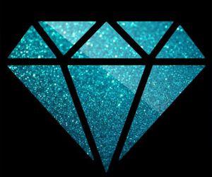 diamond, galaxy, and pink image