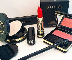 gucci, lipstick, and makeup image