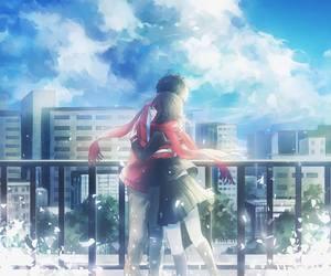anime, hug, and kagerou project image